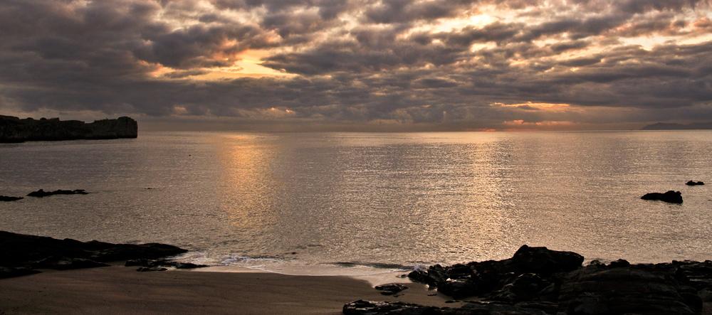 Playa de Ostende al Amanecer