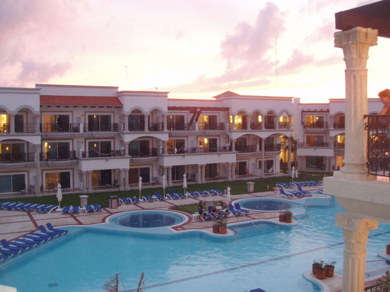 Playa del Carmen at sunset