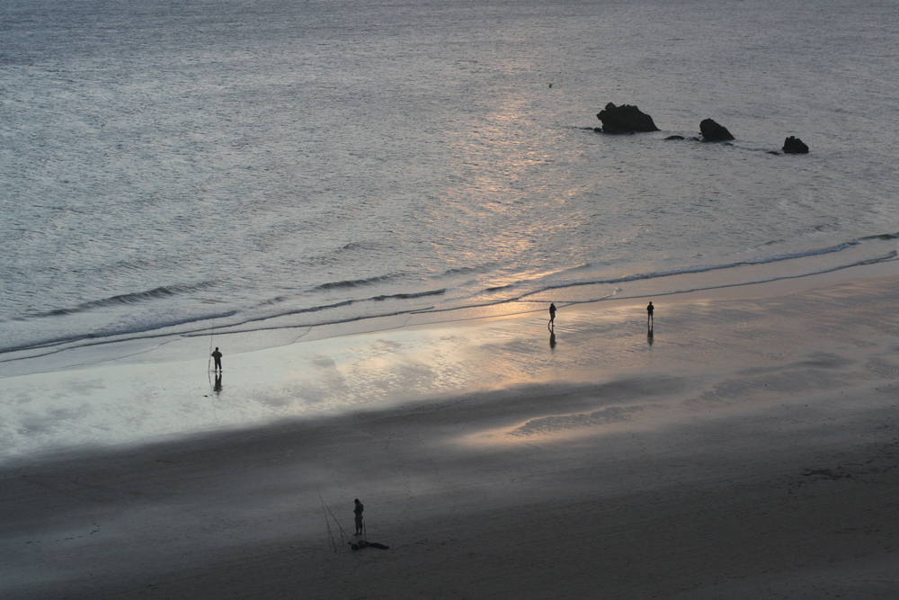 Playa, el sol se pone