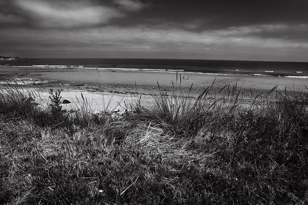 Playa en blanco y negro