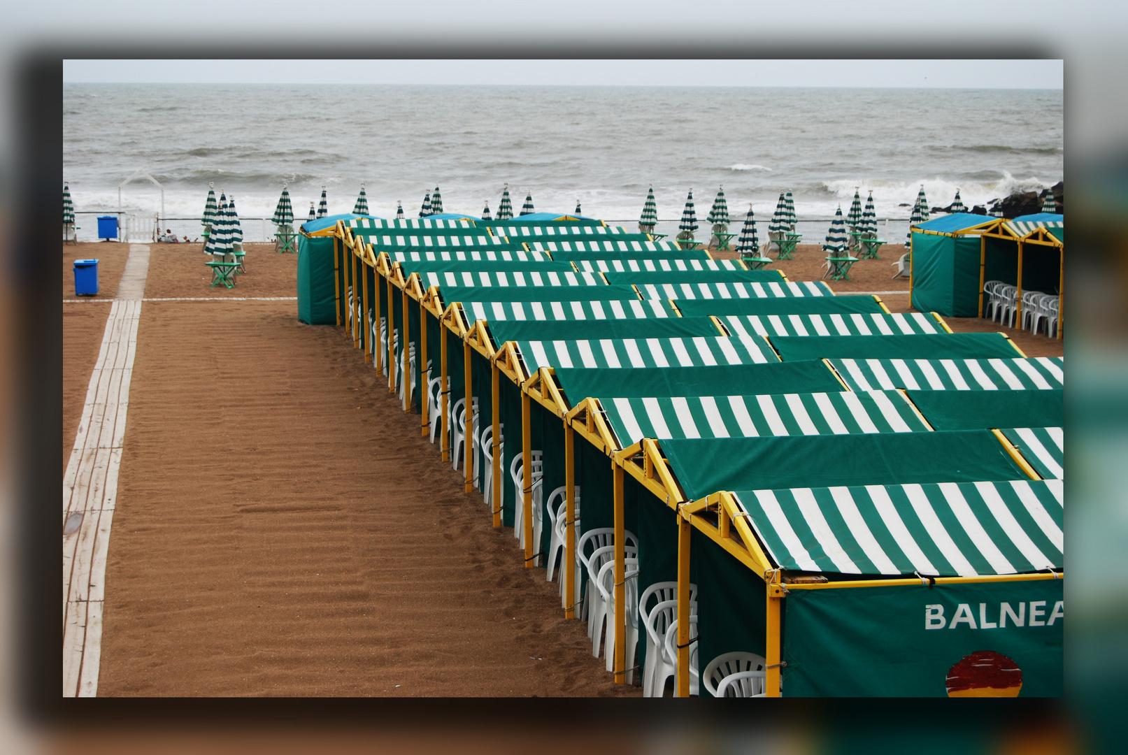 playa en un dia de marzo