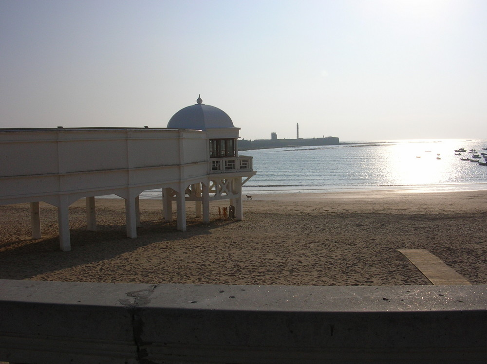 Playa La Caleta , Cadiz ( Spagna )