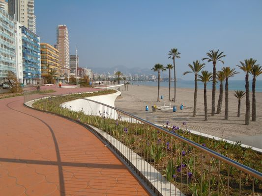 Playa Levante in Benidorm