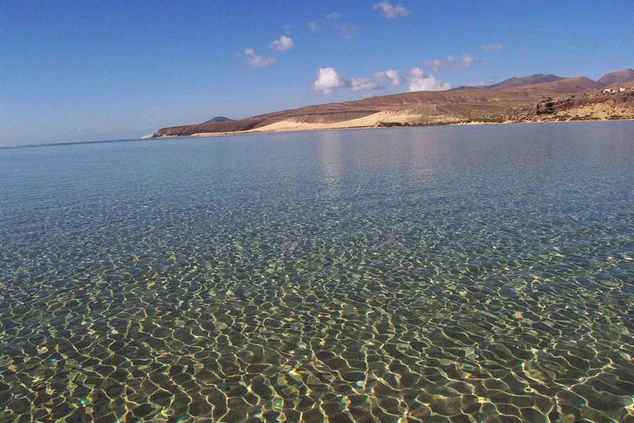 Playa Sotavento bei Flut