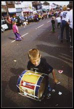 Playing the drum; Unionist – Londonderry - Shankill Road - 'the Troubles'