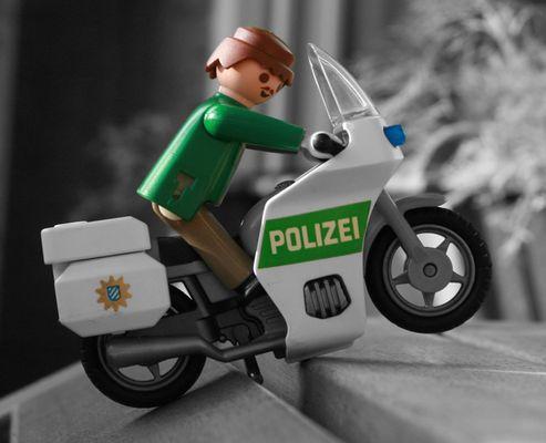 Playmobil Polizei Motorrad