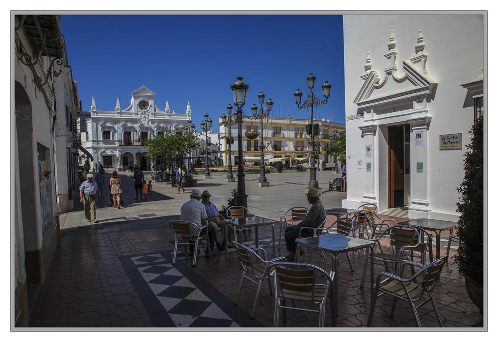 Plaza Ayuntamiento (Cartaya Huelva Andalucia España)