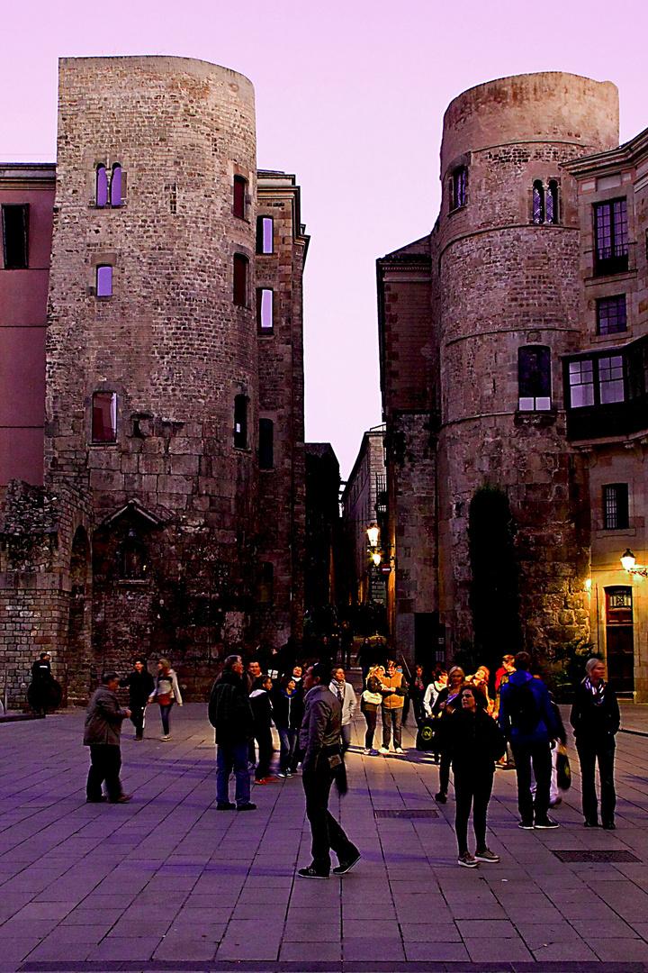 Plaza catedral de Barcelona