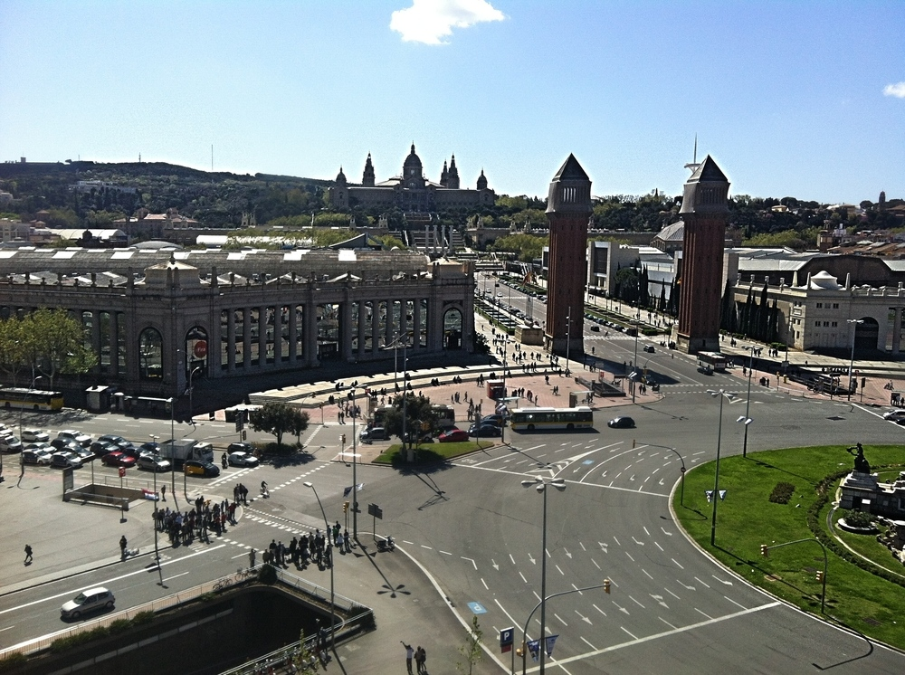 Plaza España Barcelona.,