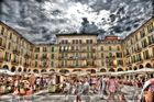 plaza mayor in palma de mallorca, hdr