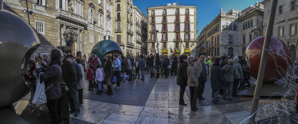 Plaza Sant Jaume Navidad 2012 (Barcelona)