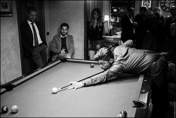 Pleasant evening, playing pool V