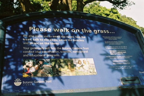 Please walk on the grass.....