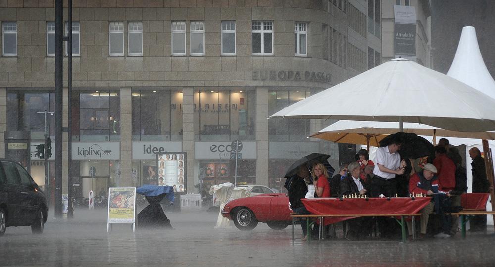 Plötzlicher Platzregen