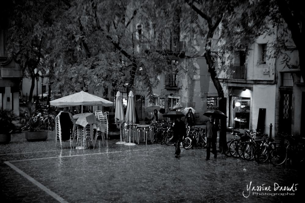 Pluie à Barcelone 2