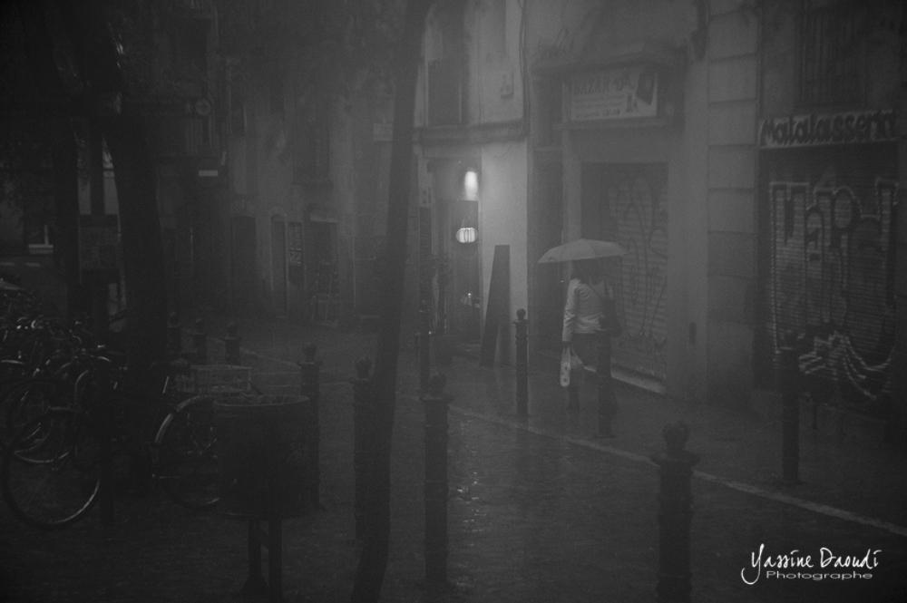 Pluie à Barcelone