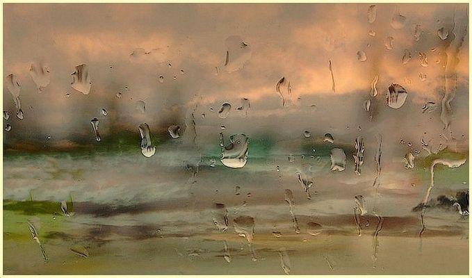 Pluie au carreau
