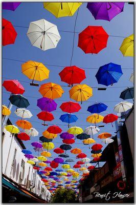 Pluie de parapluies - Antalya
