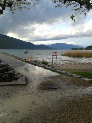 pluie tempête du lac