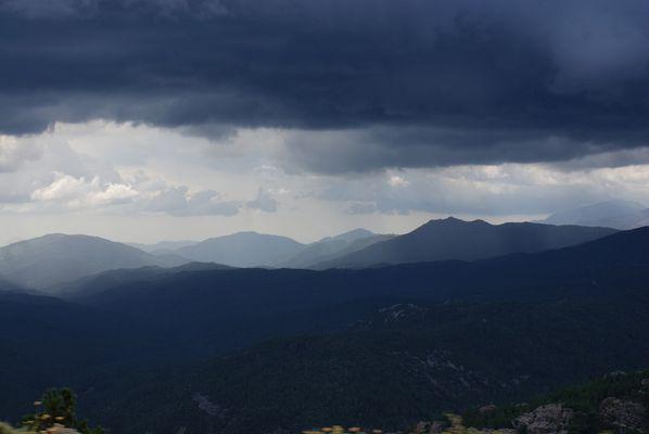 plus que quelques minutes avant un orage impressionnant Bavella Corse