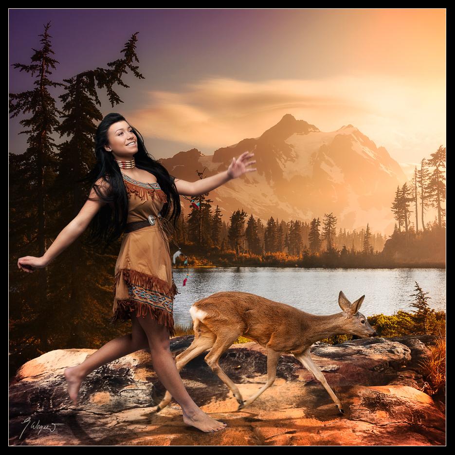 """Pocahontas, auch Matoaka, """"die Verspielte"""", die, die alles durcheinanderbringt"""