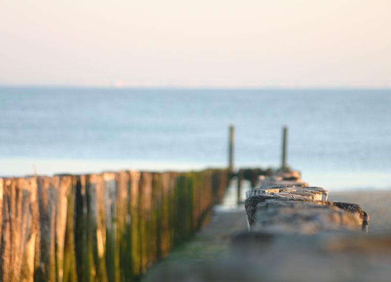 Pöller am Strand