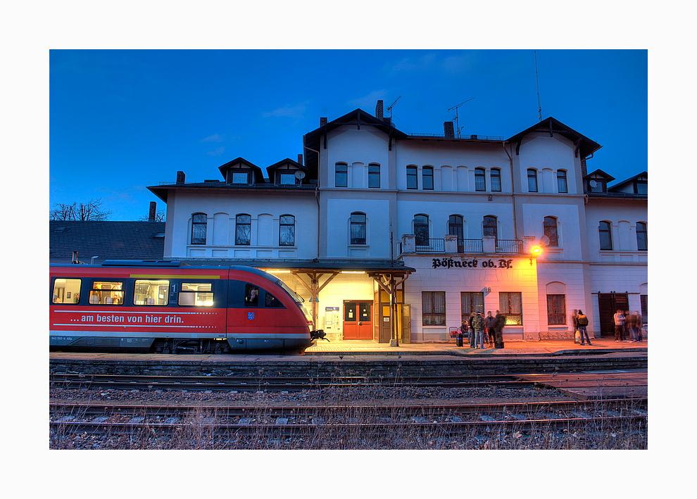 Pößneck, oberer Bahnhof
