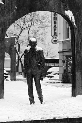 Poet im russischen Winter