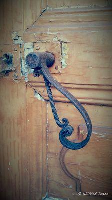 Poignet de porte en Fer Forgé