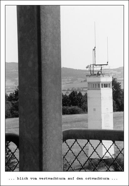 Point Alpha (9): Blick vom Westwachturm auf den Ostwachturm