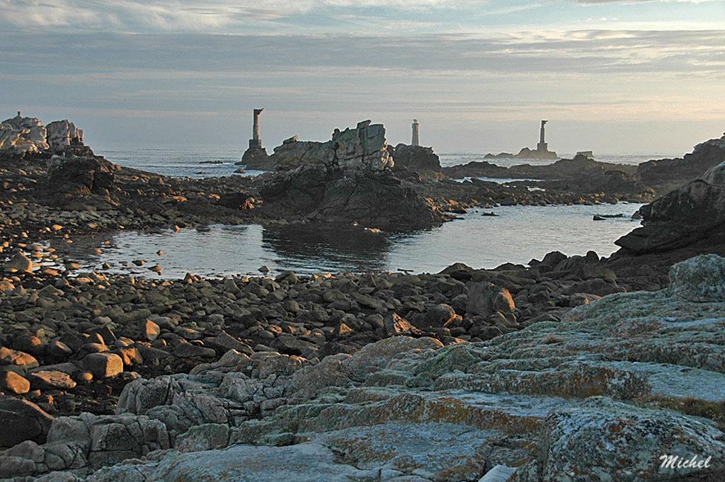 Pointe de Pern (île d' Ouessant) au couchant.