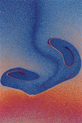 pointilliertes Motiv auf Seifenlamelle