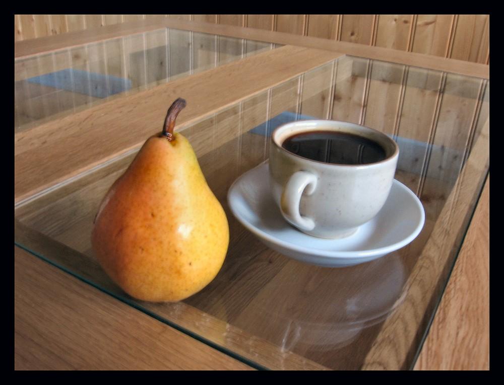 Poire et café