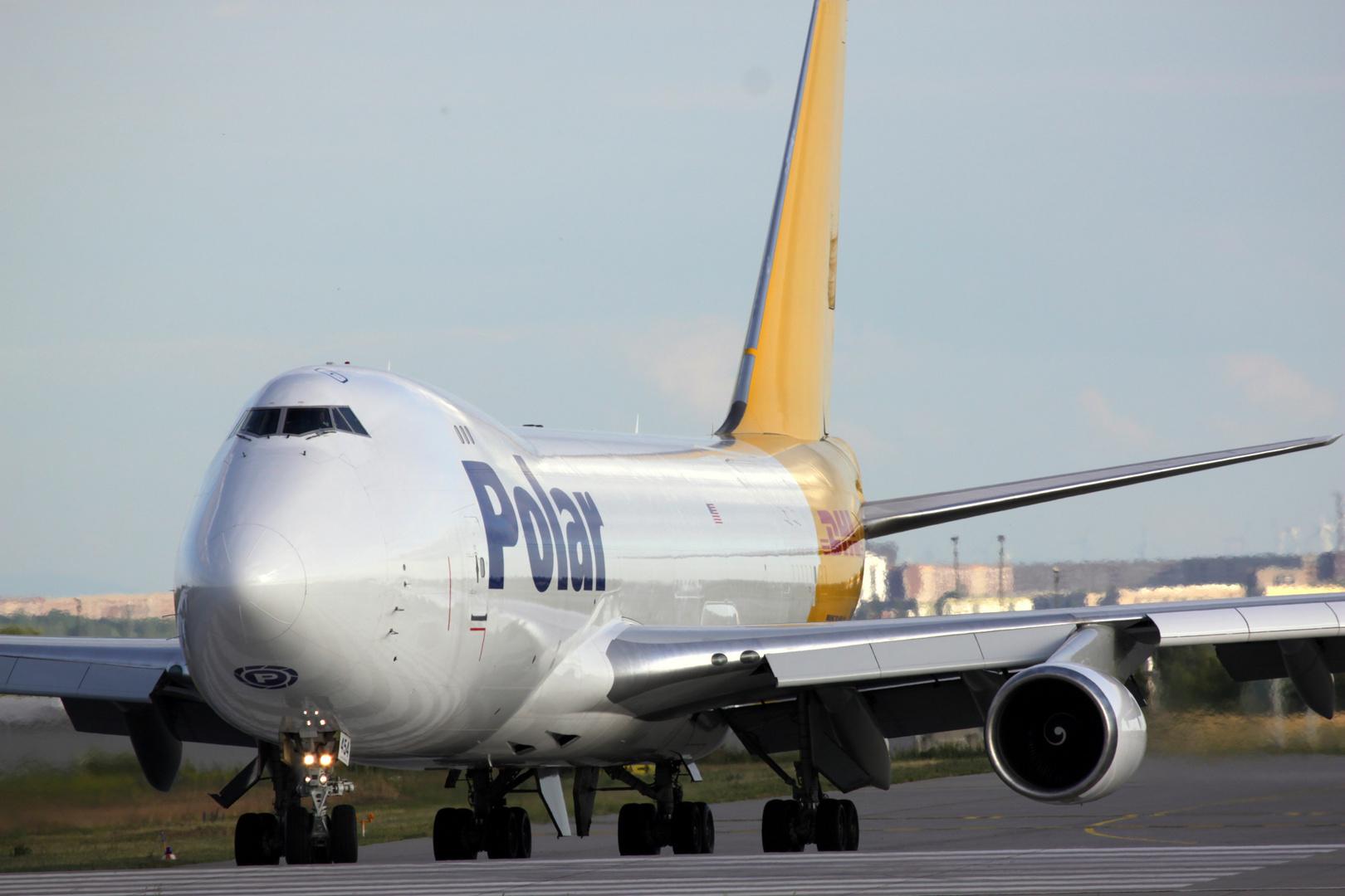 Polar Air Cargo Boeing 747-46NF(SCD) N454PA at LEJ