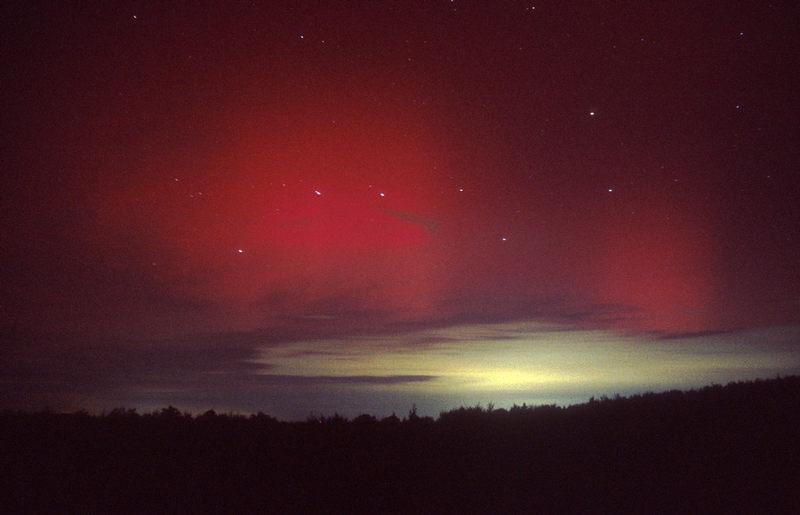 Polarlicht am 21.10.2001 in Sonnenbühl-Genkingen