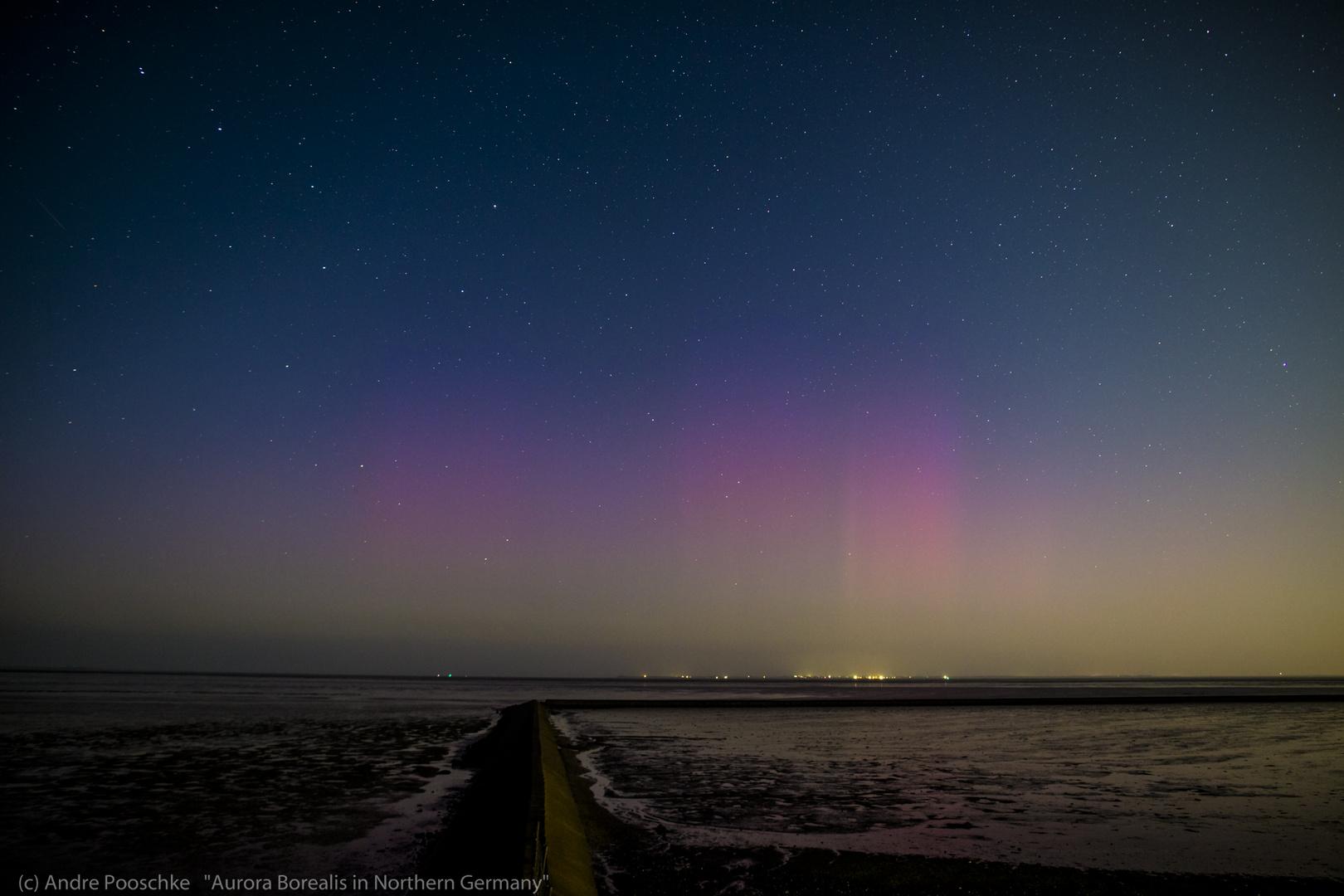 Polarlicht (Aurora Borealis) über Norddeutschland 12.09.2014