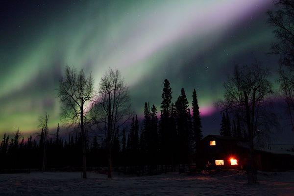 Polarlicht bei Nenana, Alaska