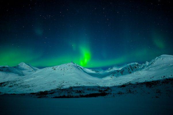 Polarlicht bei Tromsö