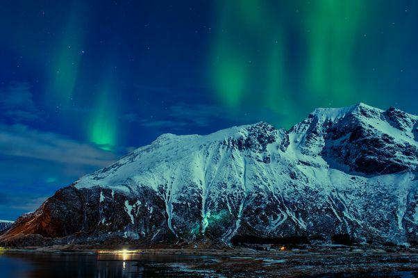 polarlicht bei vollmond