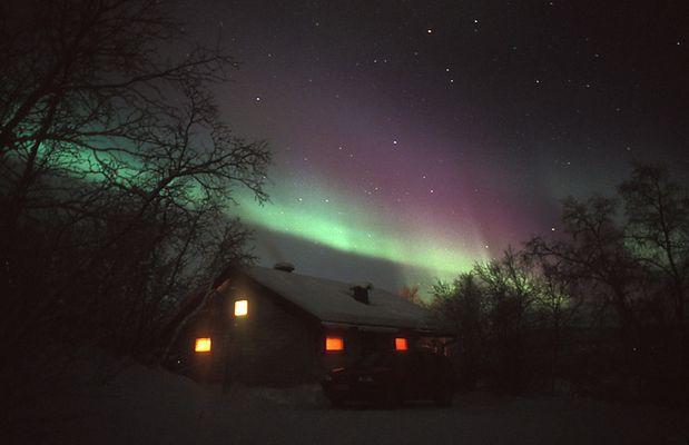 Polarlicht durch Finnland