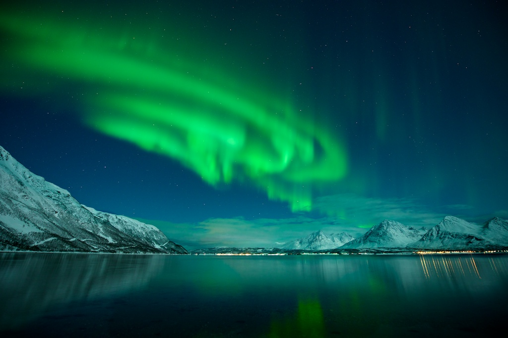Polarlicht in der Nähe von Tromsö