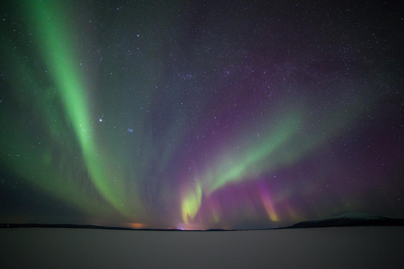 Polarlicht in finnisch Lappland