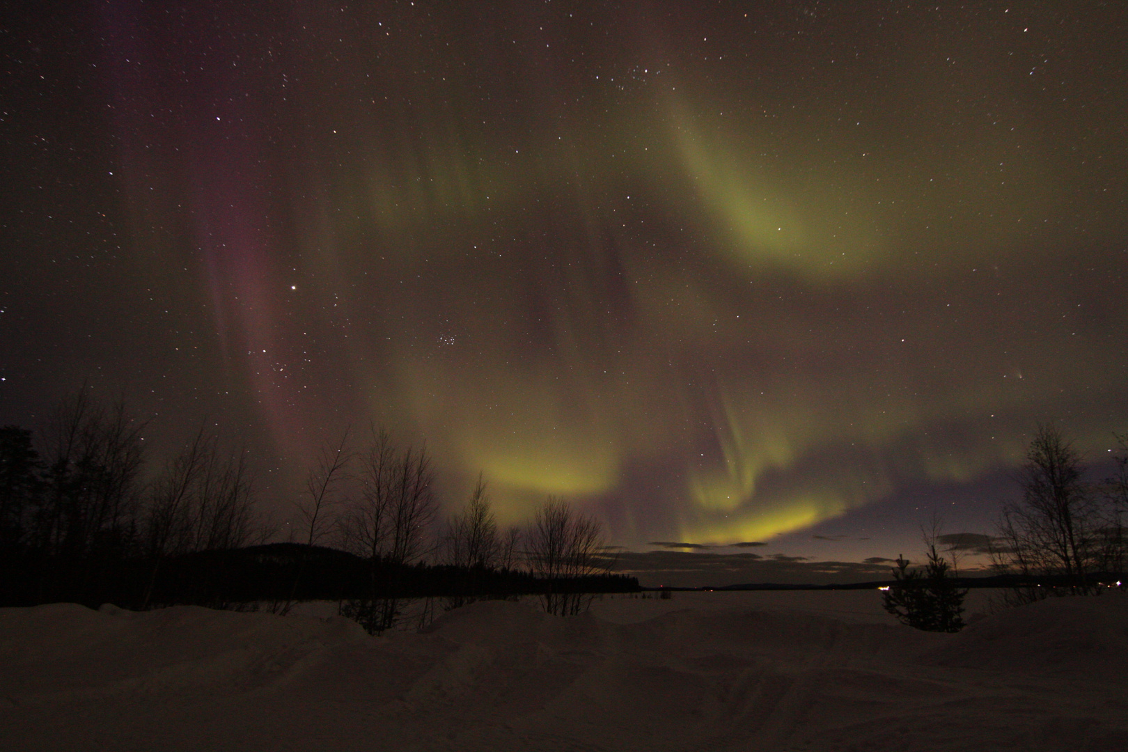 Polarlicht in Nordschweden
