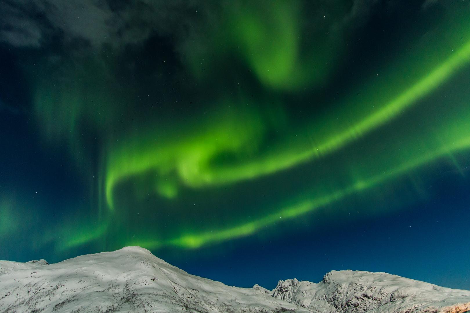 Polarlicht in Norwegen bei Tromsö