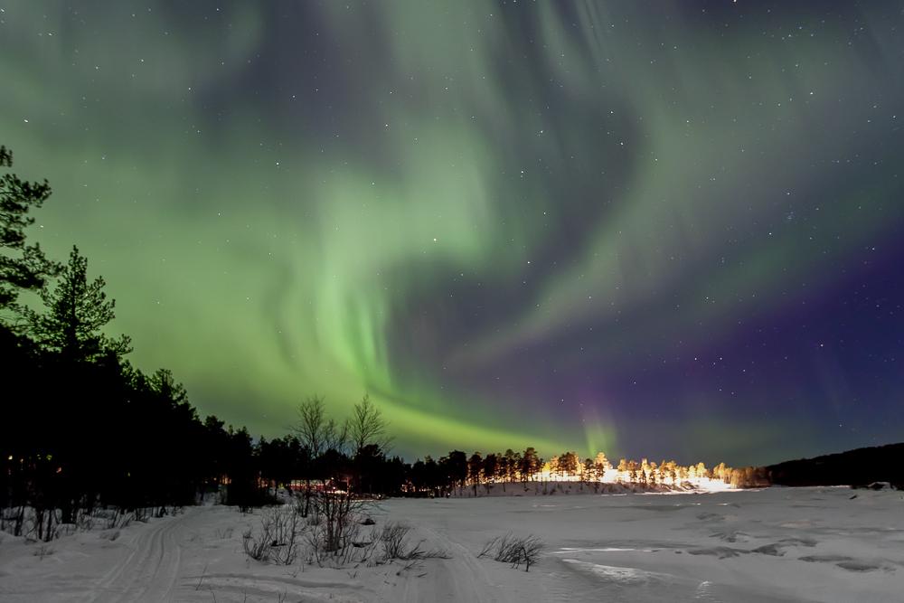 Polarlicht Inarisee (Lappland-Finnland)