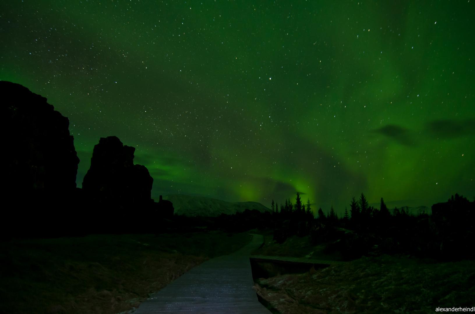 Polarlicht über Island