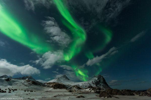Polarlicht über Lofoten