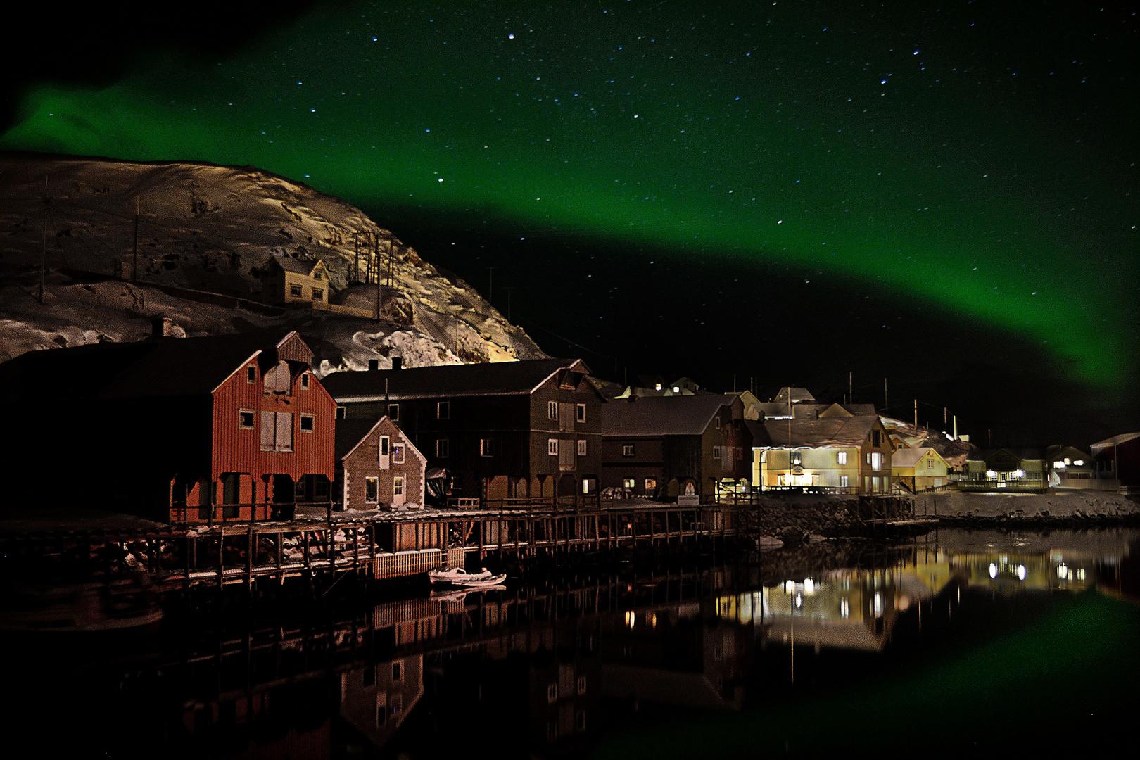 Polarlicht über Nyksund/Vesterålen