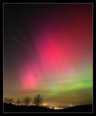Polarlicht über Süddeutschland