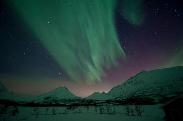 Polarlicht über Troms / Norwegen 3